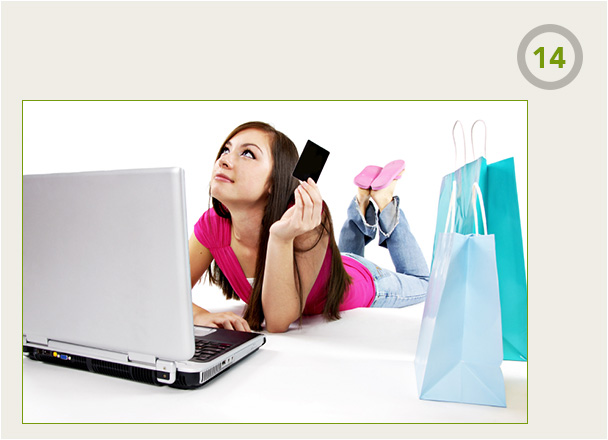 Girl laying down while shopping online safely with MaskMe Masked Cards
