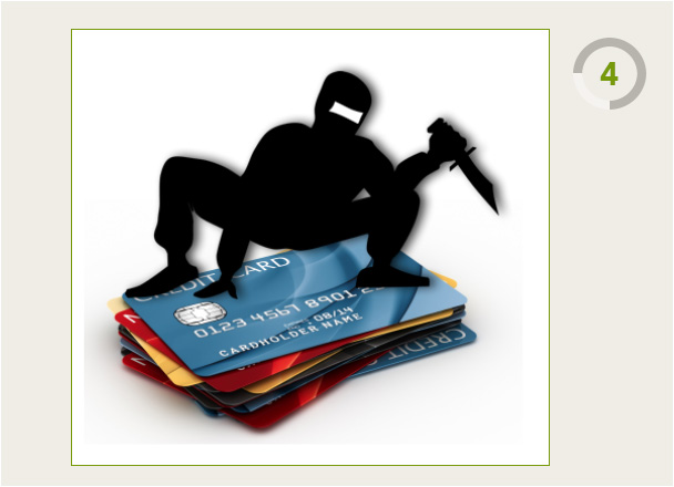 Ninja on a deck of Credit Cards