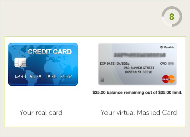 Your real card and your virtual Masked Card