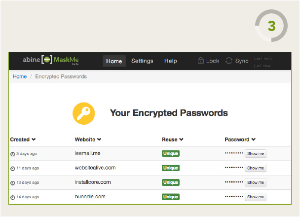 Encrypted Passwords List