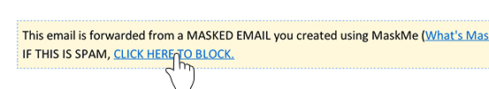 Block an email