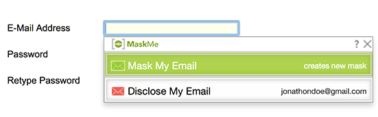 MaskMe with Mask my Email in Form